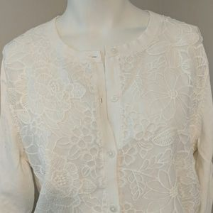 Merona white cardigan
